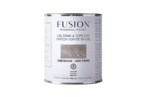 Fusion greystone Gel Stain and topcoat