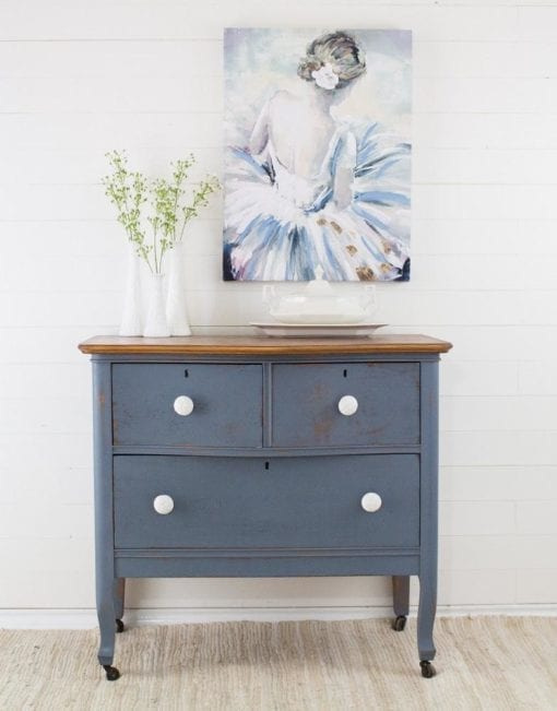 Rideau Blue Homestead House Milk Paint dresser