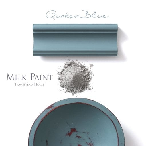 quaker blue milk paint