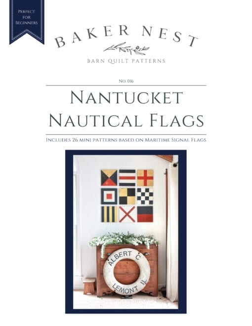 Nantucket Nautical Barn Quilt Pattern Book