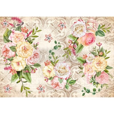 Amiable Roses Rice Paper