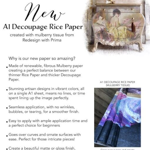Harmony Redesign A1 Decoupage Rice Paper