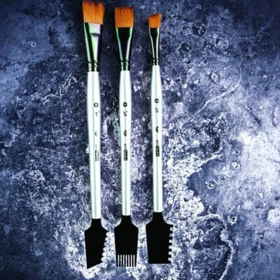 RE DESIGN Double Sided Texture Brushes Set of 3