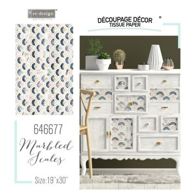 Marbled Scales Decoupage Decor Tissue Paper Redesign with Prima