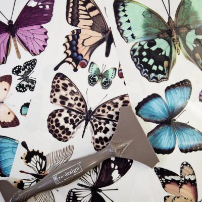 Butterfly Decor Transfer Redesign with Prima