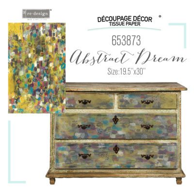 Abstract Dream Decoupage Decor Tissue Paper Redesign with Prima