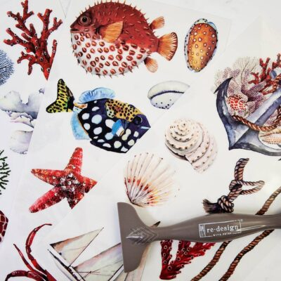 Amazing Sea Life Decor Transfer by Redesign with Prima